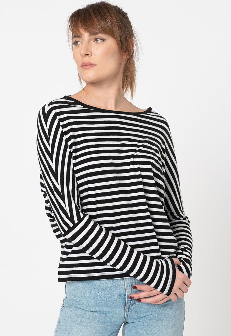 Bluza de bumbac organic in dungi imagine