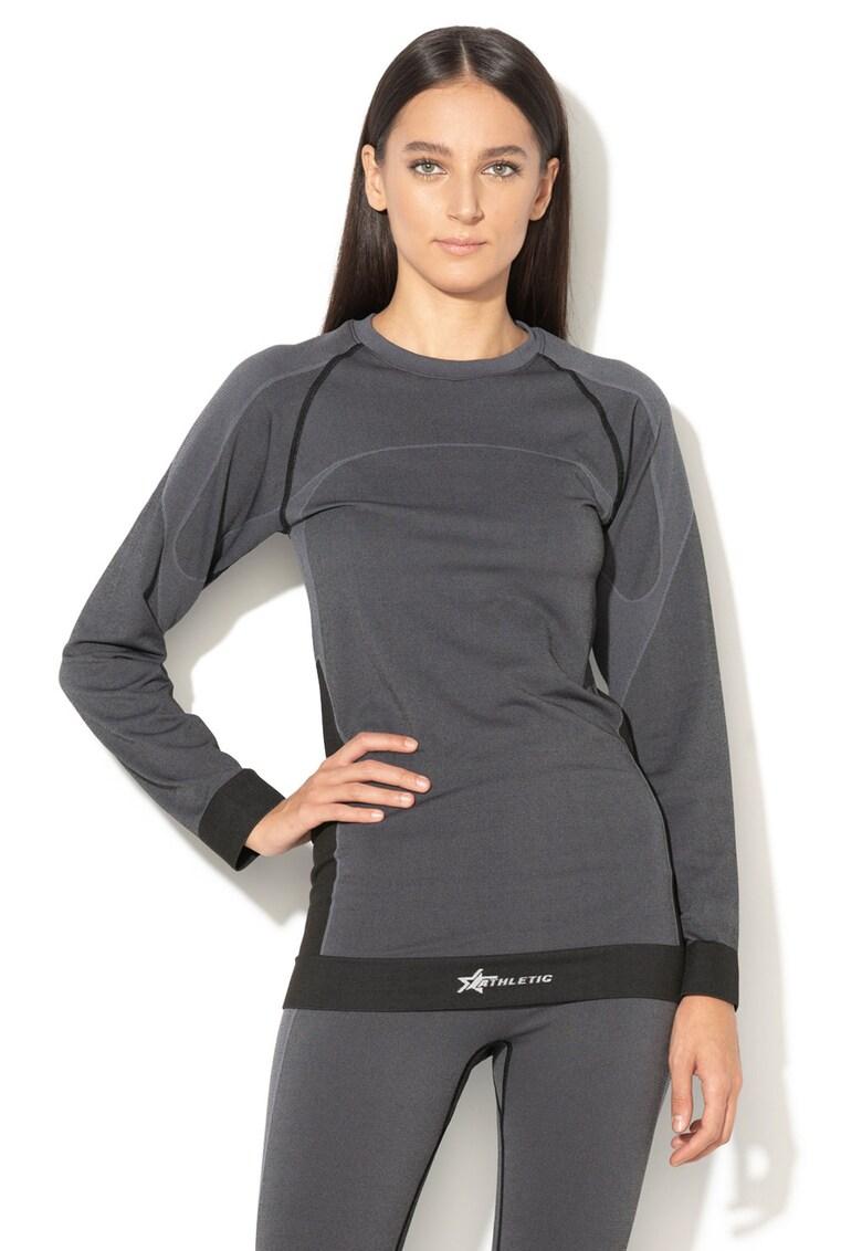 Bluza termica cu detalii contrastante – pentru schi de la ATHLETIC
