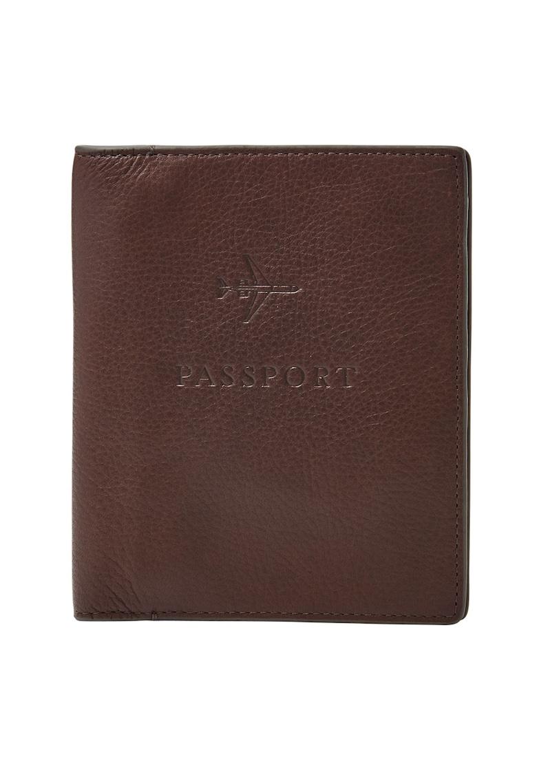 Portcart de piele pentru pasaport de la Fossil