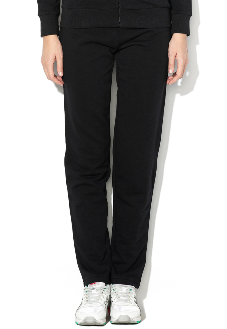 Pantaloni sport slim fit cu banda elastica in talie si broderie logo