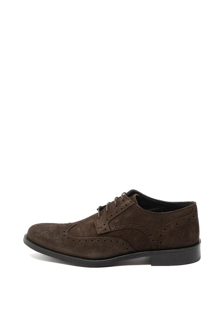 Zee Lane Collection Pantofi oxford de piele intoarsa
