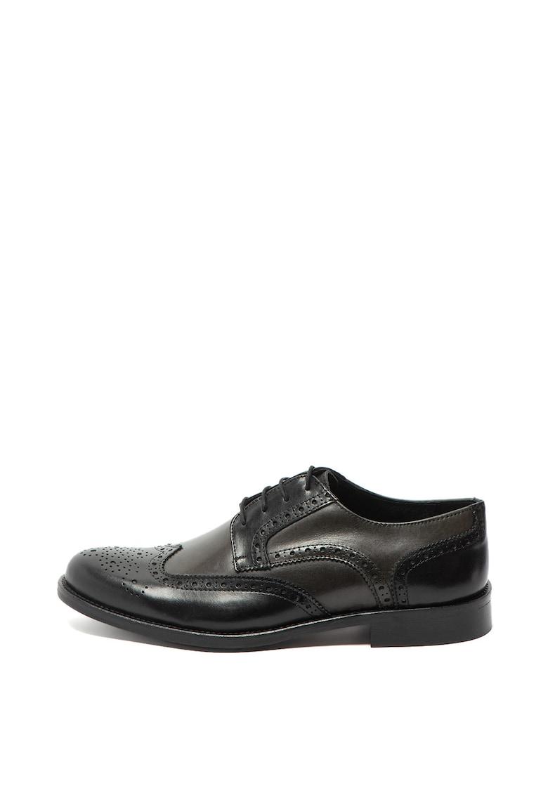 Zee Lane Collection Pantofi oxford de piele cu perforatii