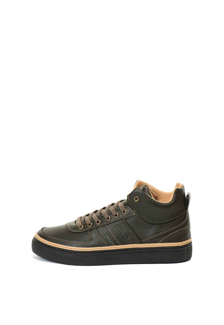 Pantofi sport mid-high de piele ecologica Oliver