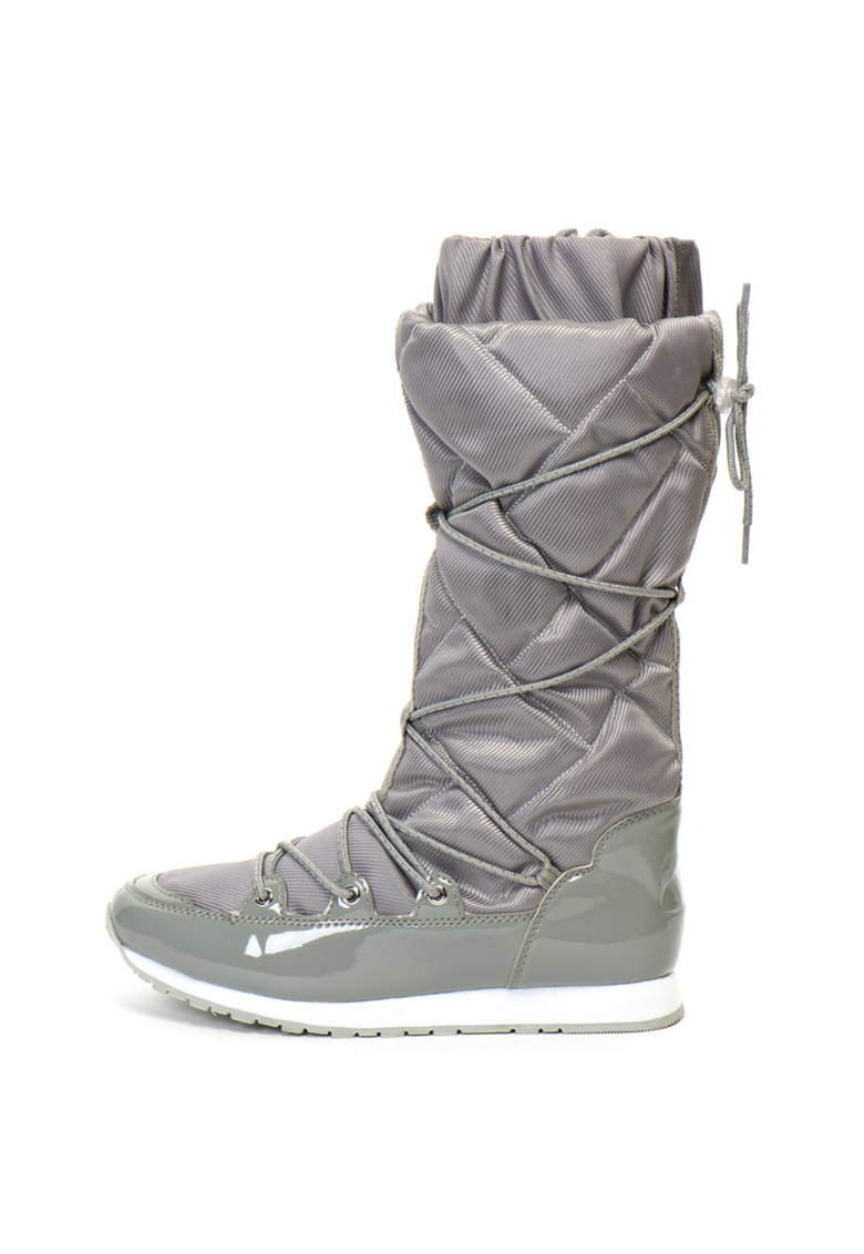 Cizme mid-calf din material textil si piele ecologica lacuita ELLESSE