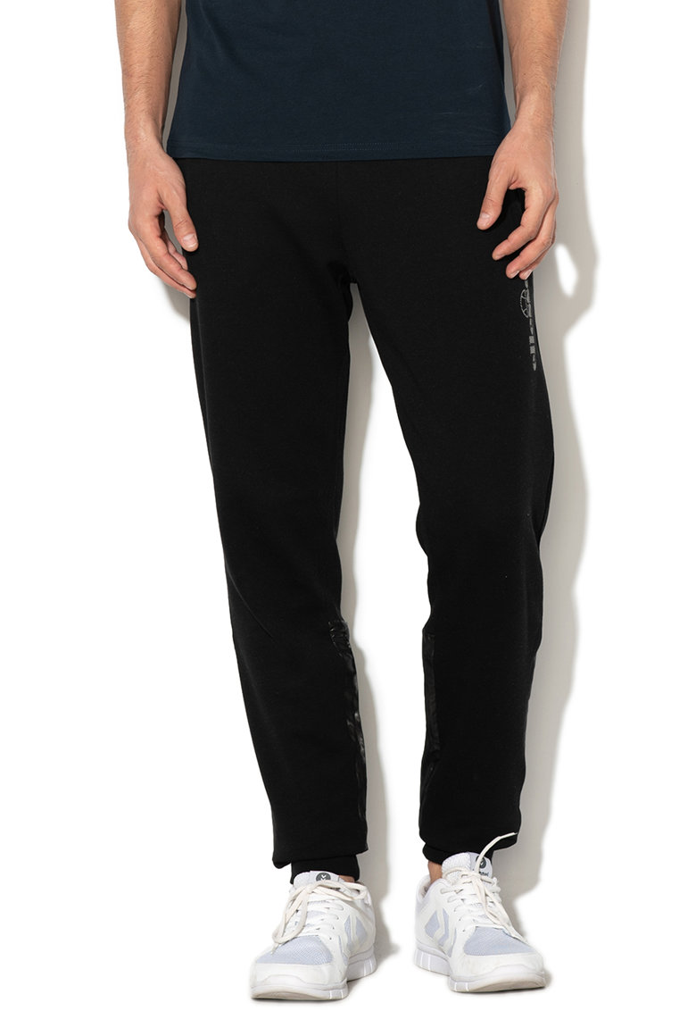 Pantaloni jogger cu insertii de nailon