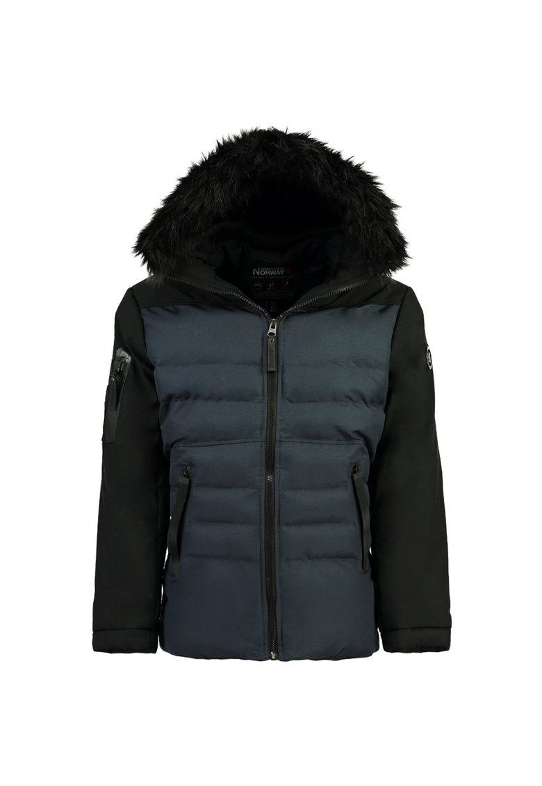Geaca cu aspect matlasat si garnituri de blana sintetica de la Geographical Norway