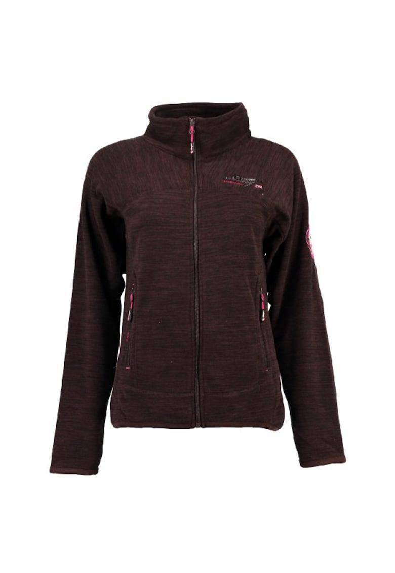 Bluza sport din fleece cu fermoar si guler inalt Tyrell
