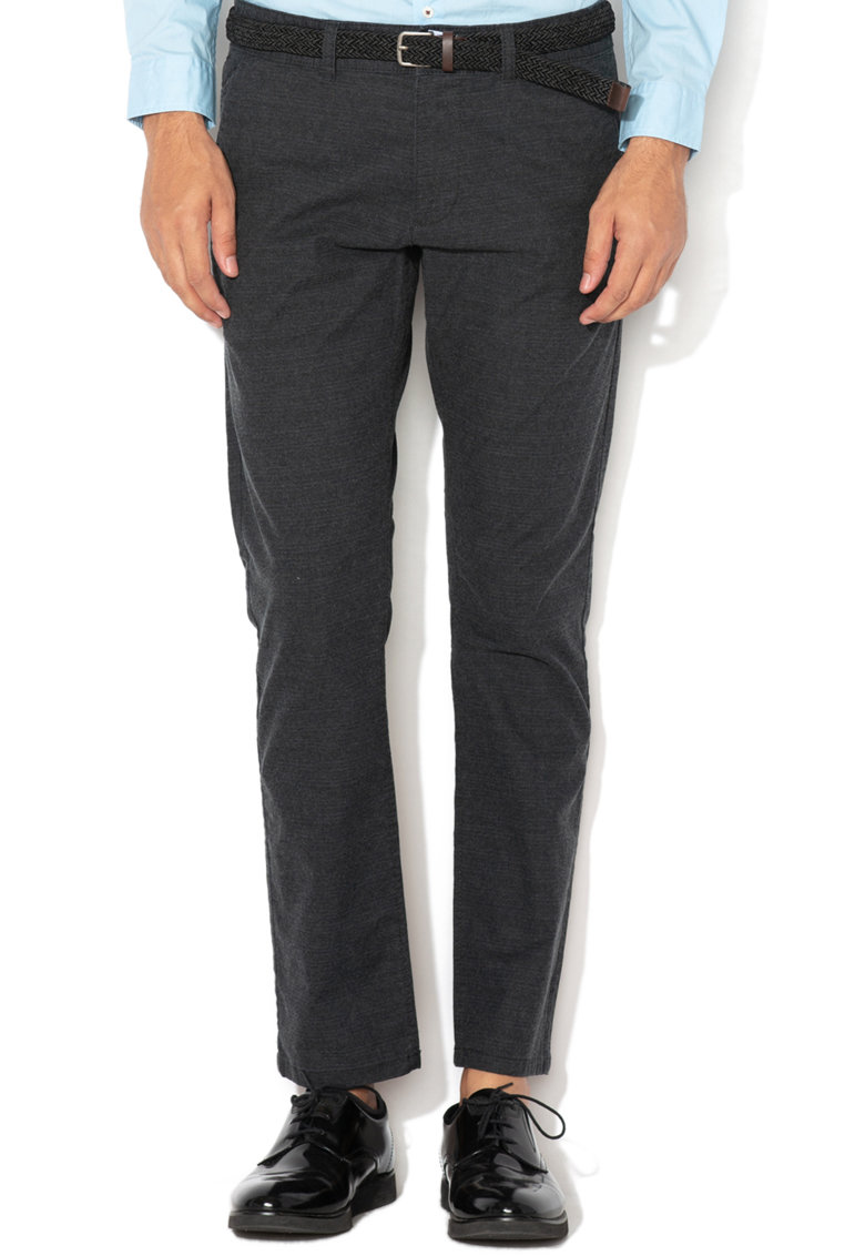 EDC by Esprit Pantaloni chino slim fit cu o curea