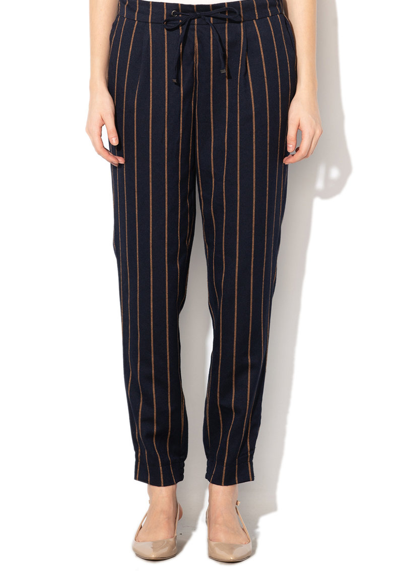 Esprit Pantaloni conici in dungi cu terminatie elastica
