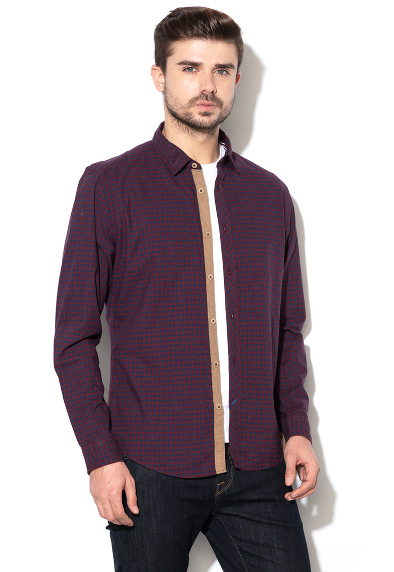Esprit Camasa slim fit cu model in carouri