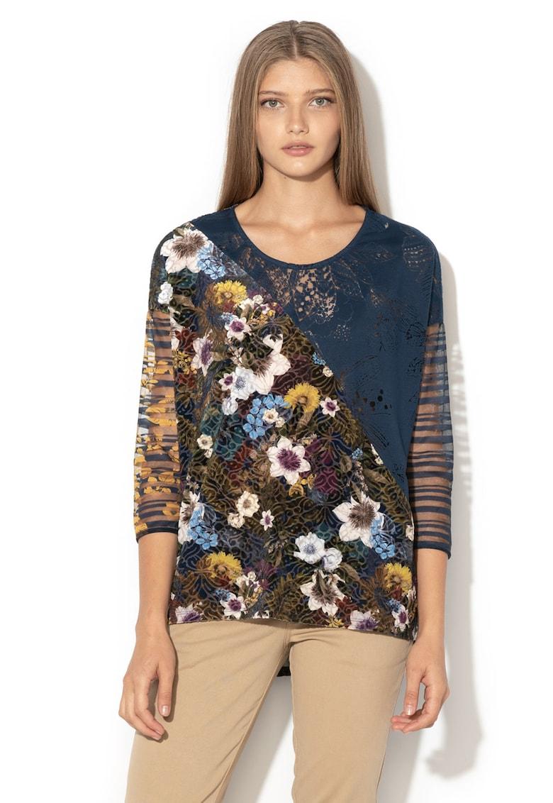 DESIGUAL Bluza cu model floral si insertii de dantela Kirune