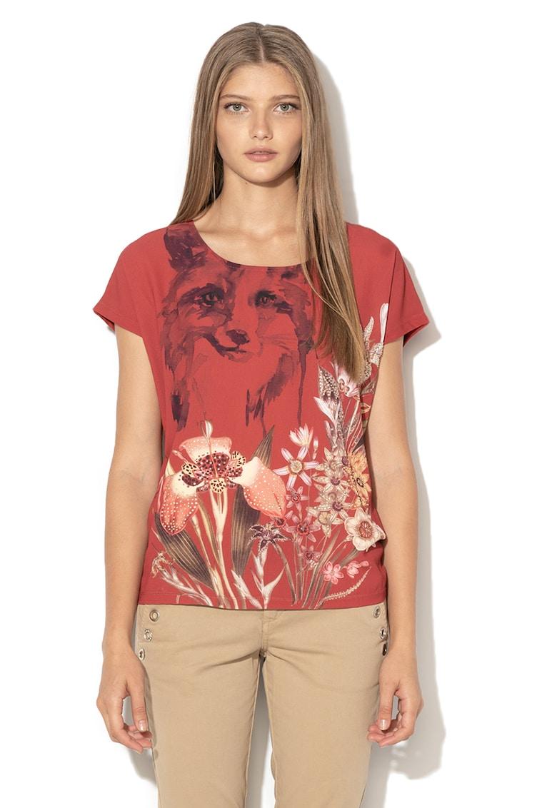 DESIGUAL Bluza din amestec de modal cu strasuri Fox