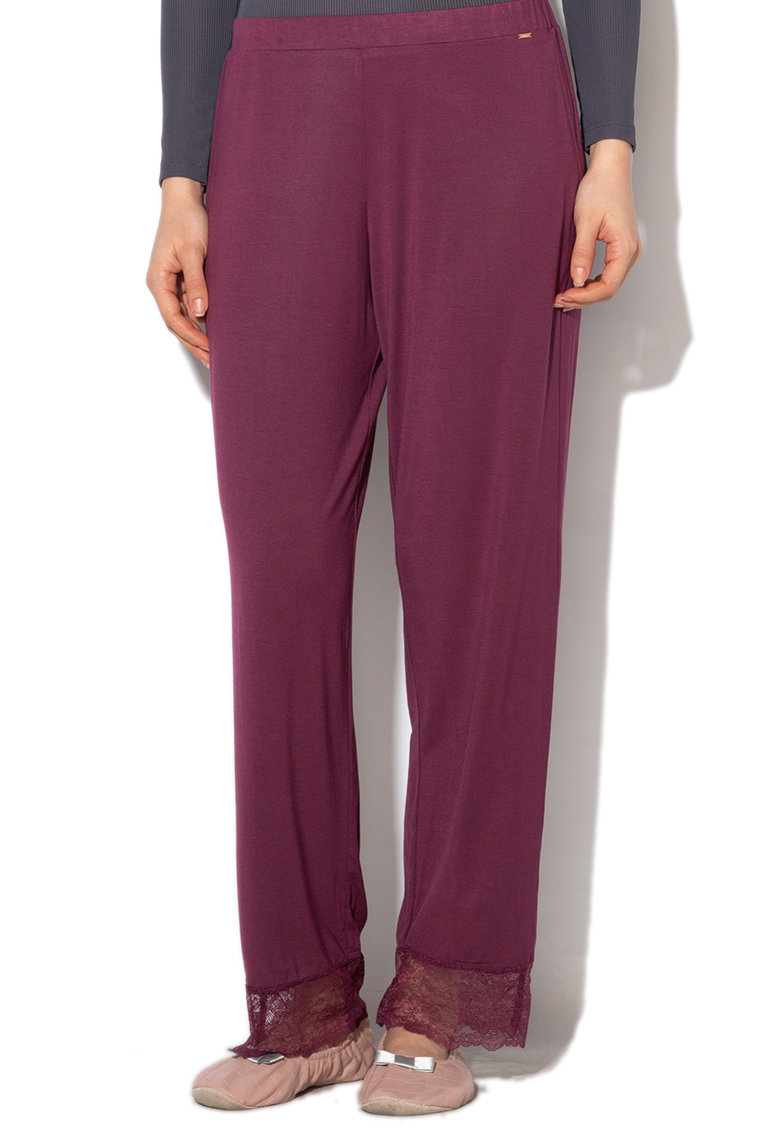 Dorina Pantaloni de pijama cu terminatie cu dantela Cordelia