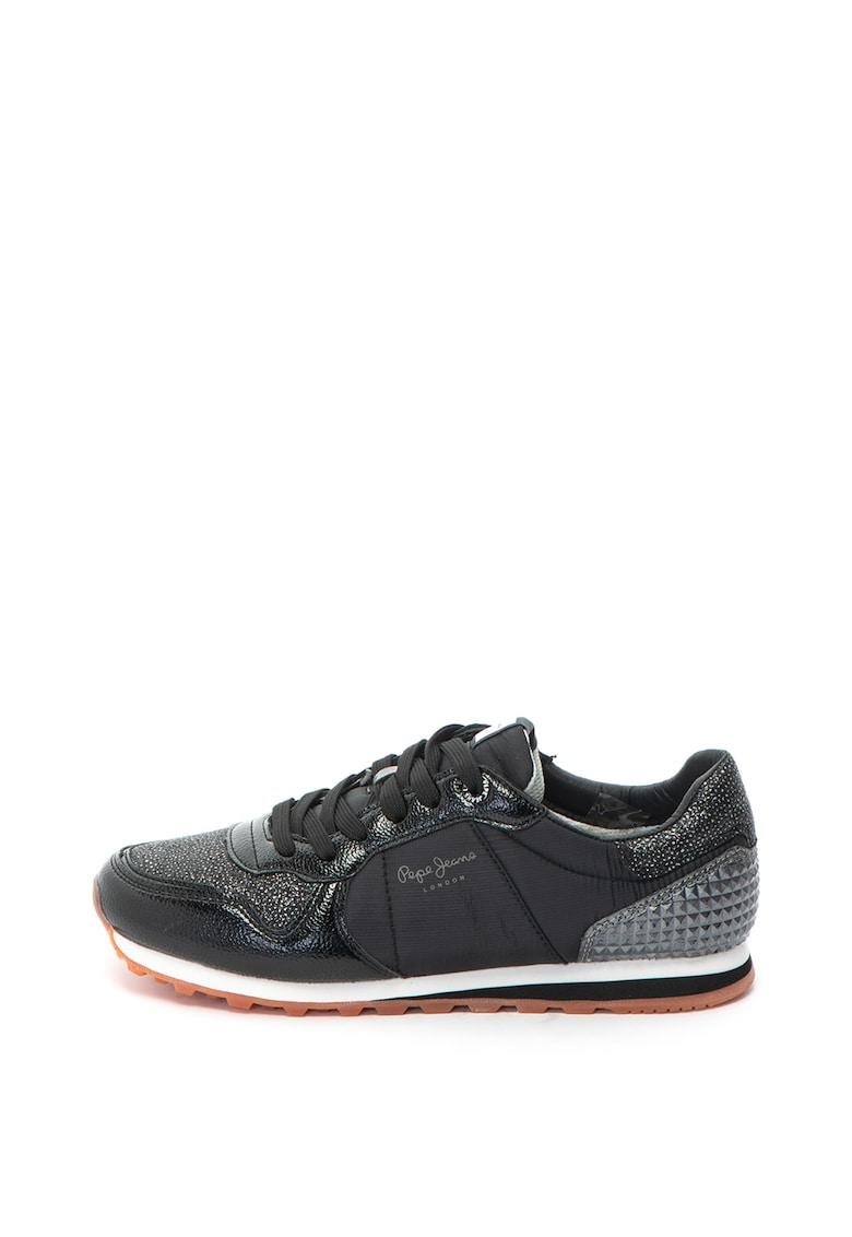 Pepe Jeans London Pantofi sport cu aspect lacuit Verona