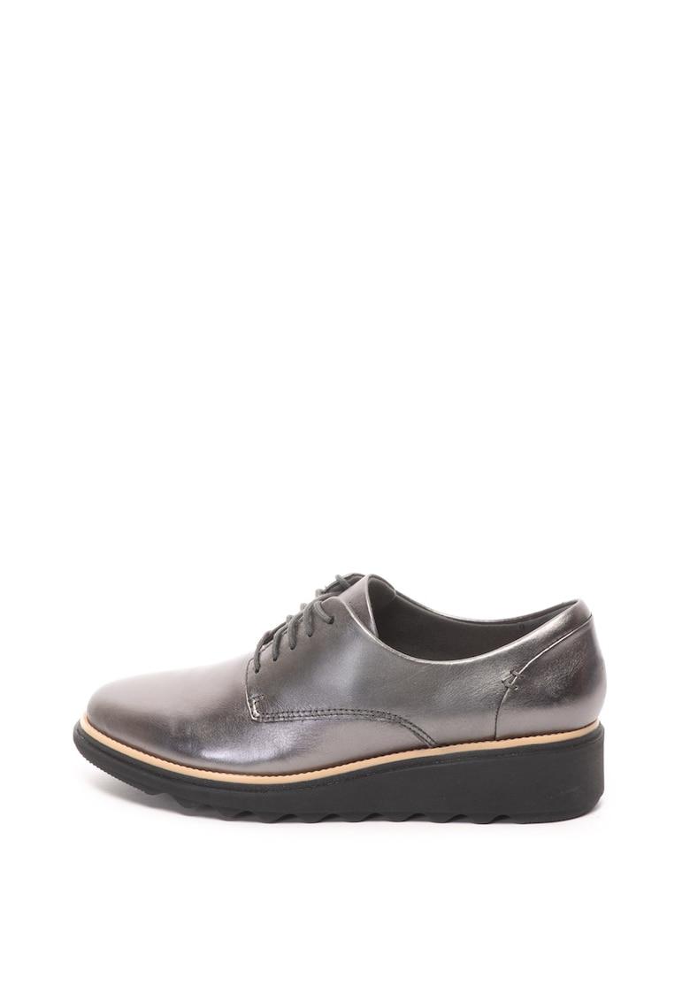 Clarks Pantofi derby de piele Sharon Noel