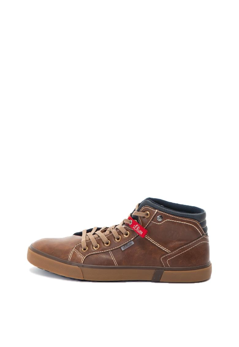 sOliver Pantofi sport inalti de piele sintetica