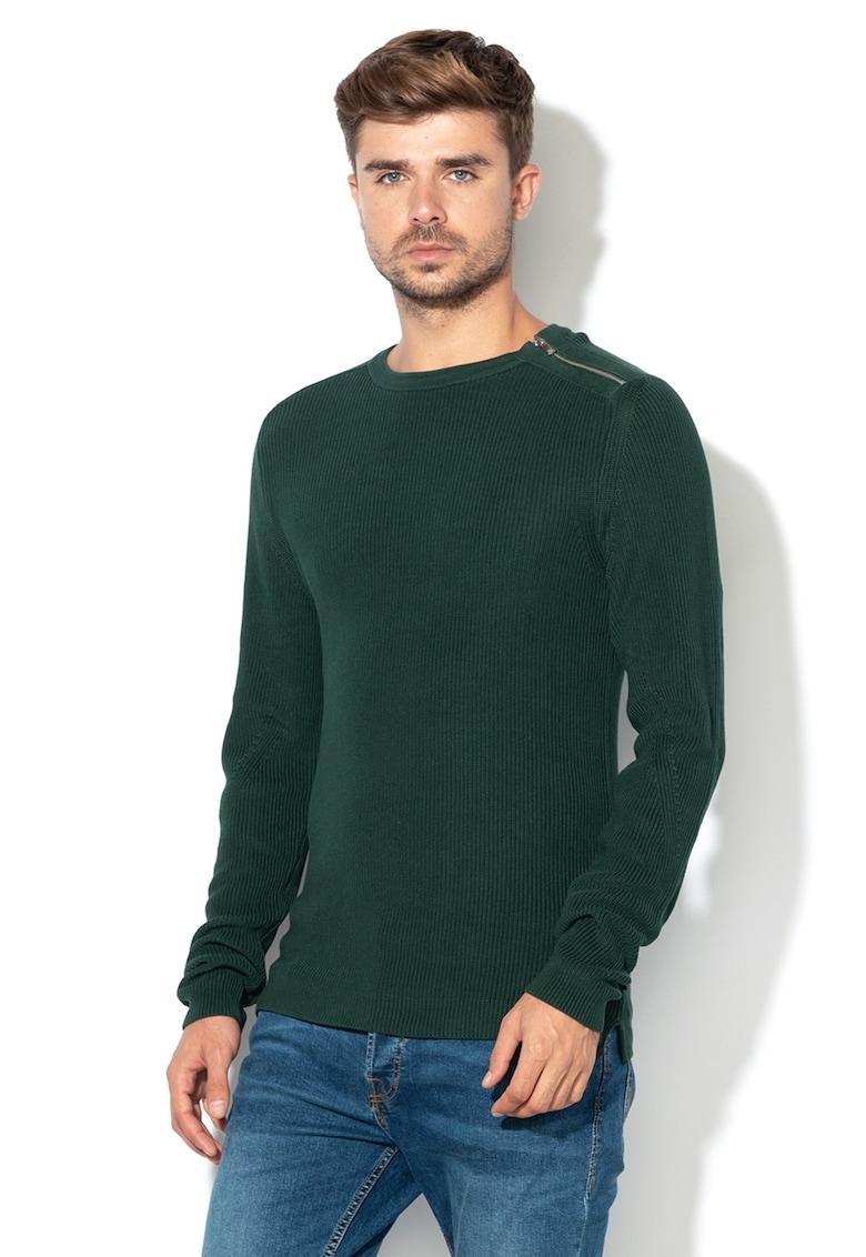 JackJones Pulover tricotat cu fermoar decorativ Solo
