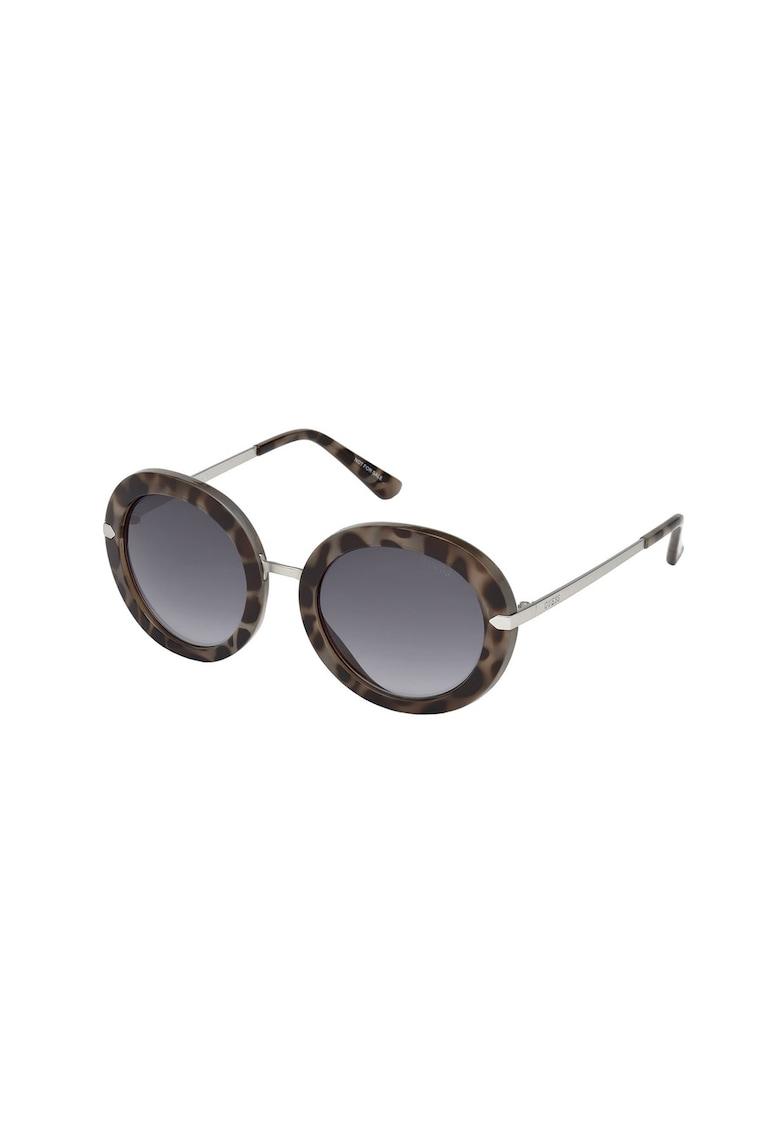 Ochelari de soare rotunzi cu brate metalice de la Guess