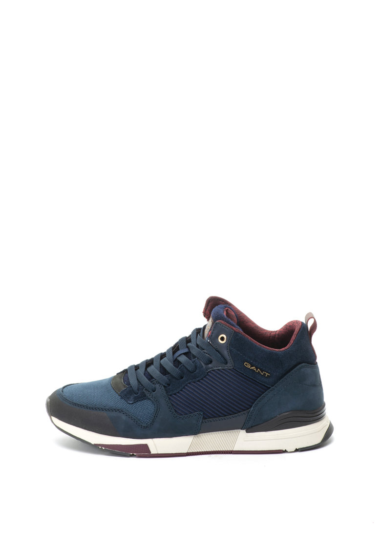 Gant Pantofi sport mid-high de piele nabuc si material textil Andrew