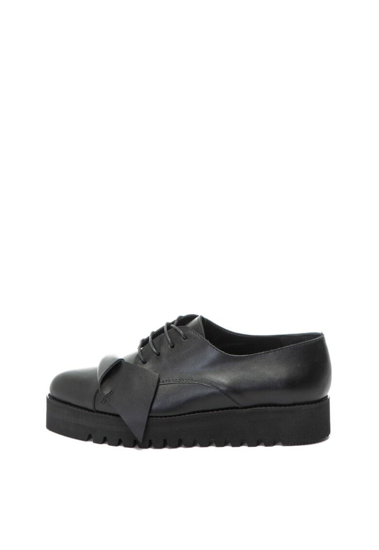 Pantofi wedge casual de piele
