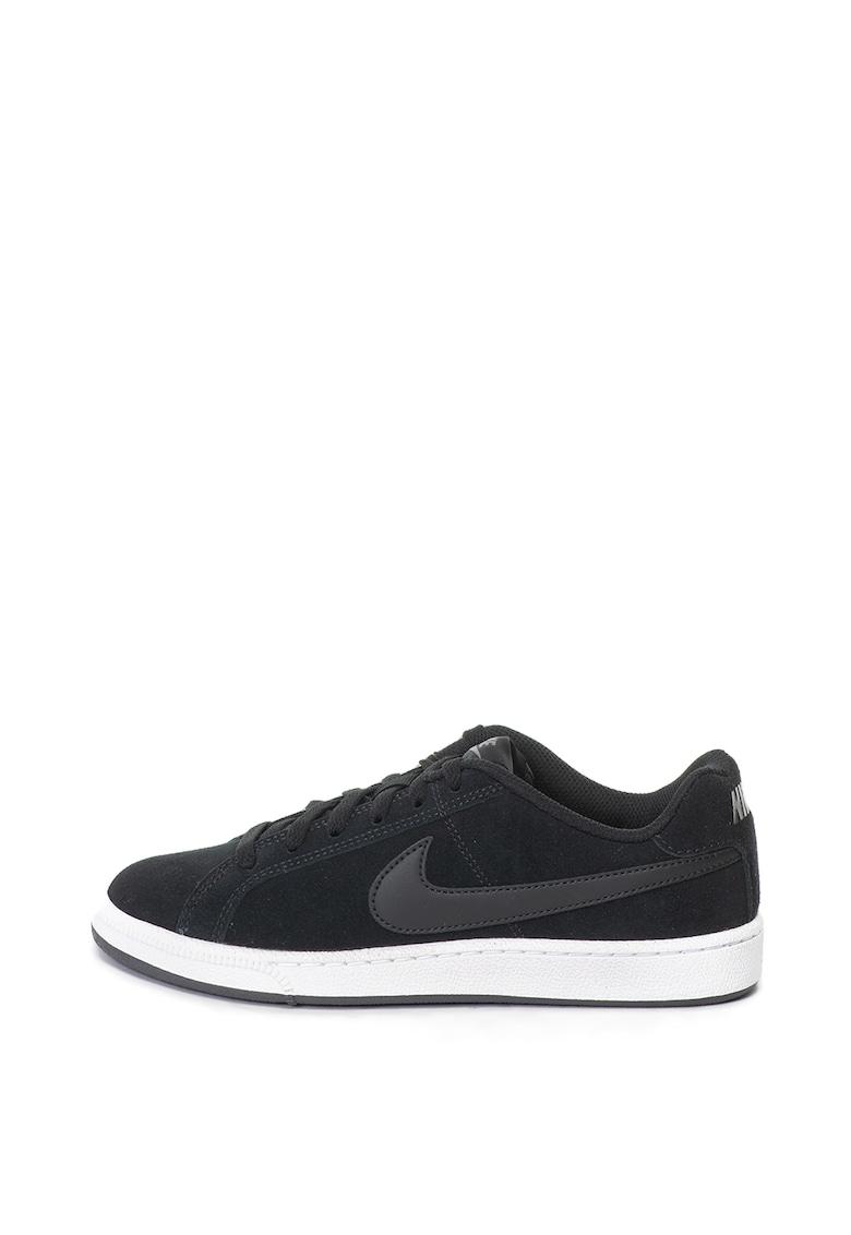 Pantofi sport din piele intoarsa cu logo pe partile laterale Court Royale Nike