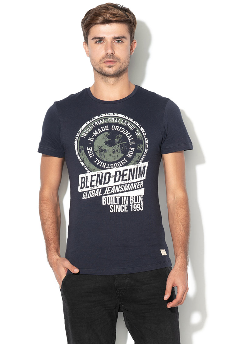 BLEND Tricou slim fit cu imprimeu grafic