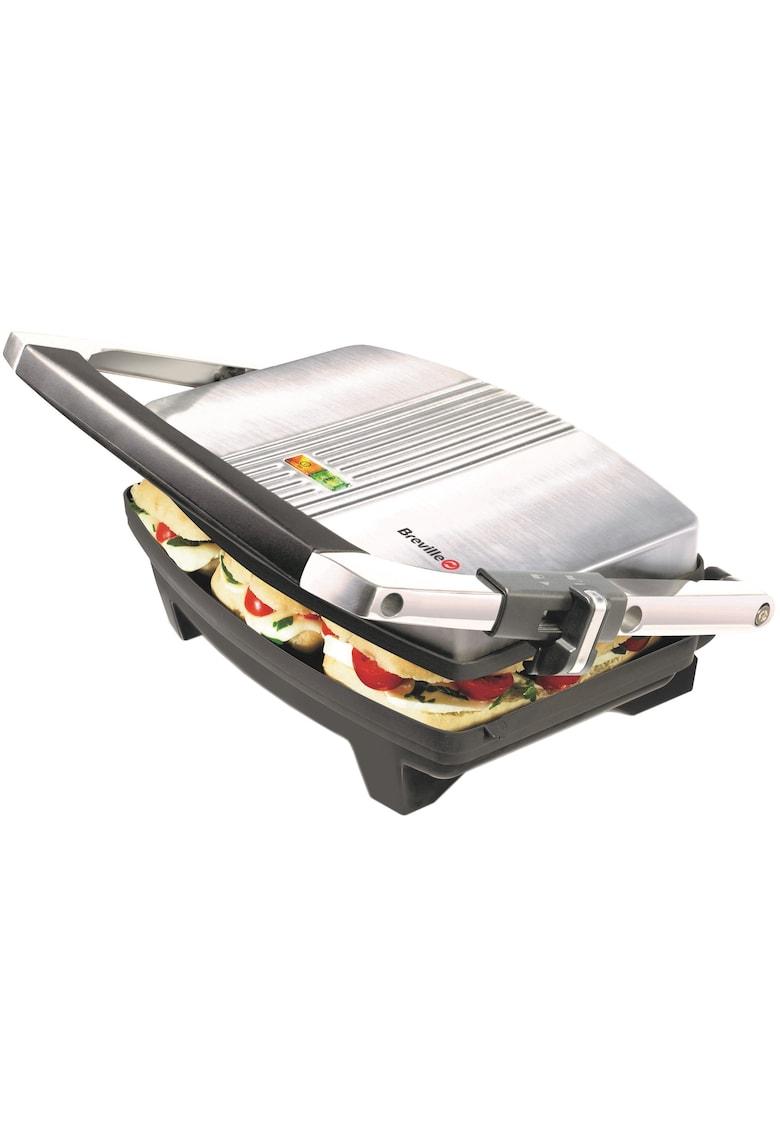 Sandwich-maker  Panini  - 1000 W - Placi antiaderente - Negru/Inox