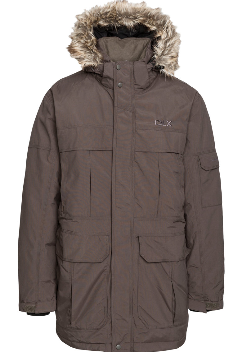 Jacheta parka impermeabila si rezistenta la vant – cu umplutura de puf Highland de la Trespass