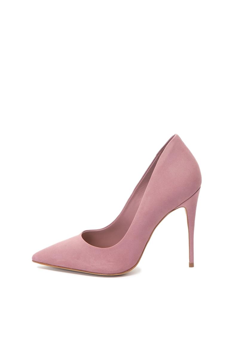 Pantofi stiletto de piele nabuc Cassedy de la Aldo