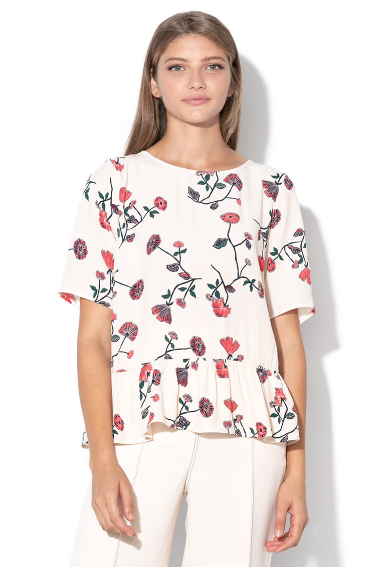 Bluza cu model cu floare Woody de la Vila