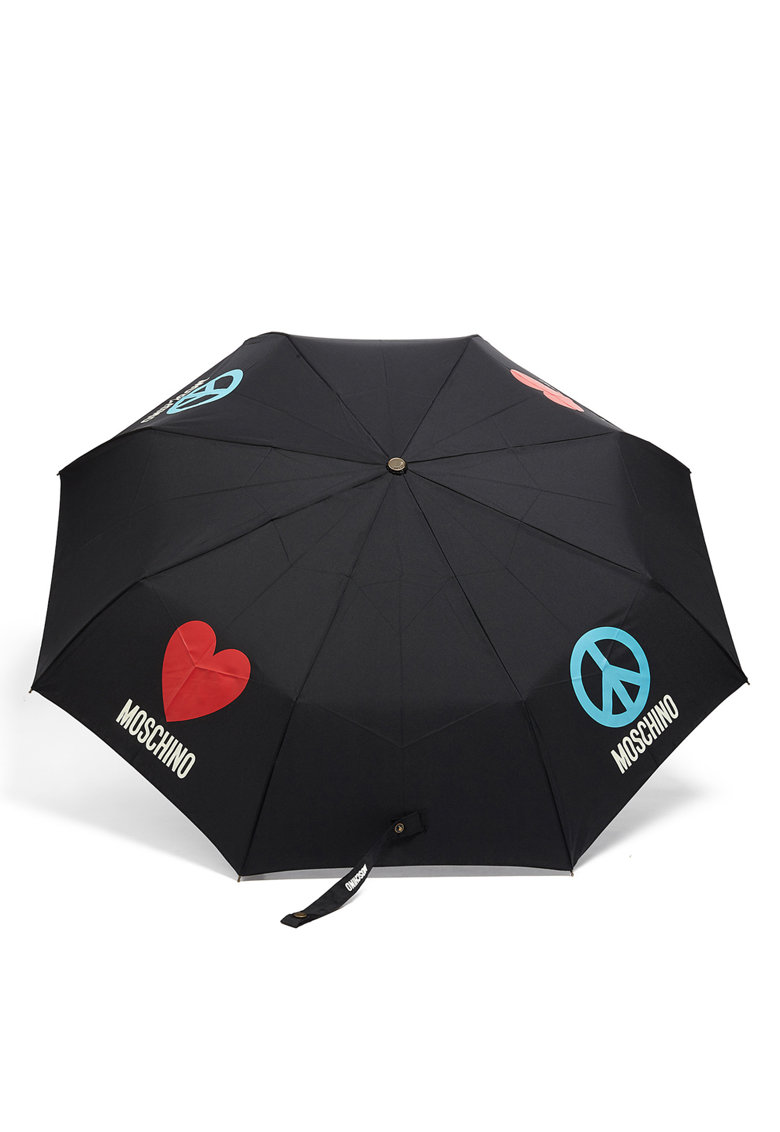 Umbrela cu imprimeu logo de la Moschino