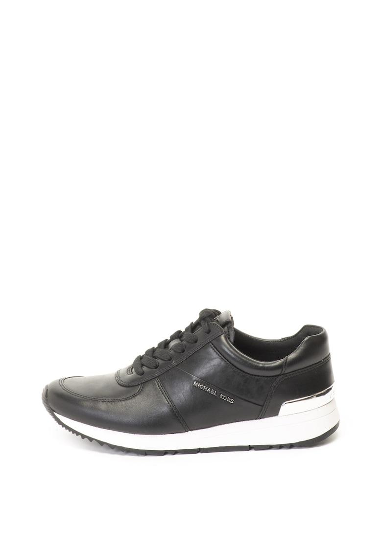 Pantofi sport de piele cu aplicatie logo Allie Michael Kors fashiondays.ro