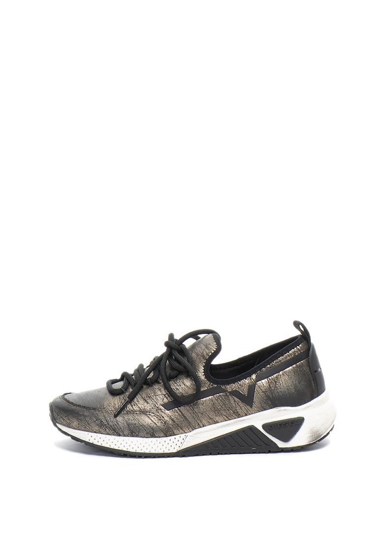 Pantofi sport slip-on cu aspect metalizat Kby