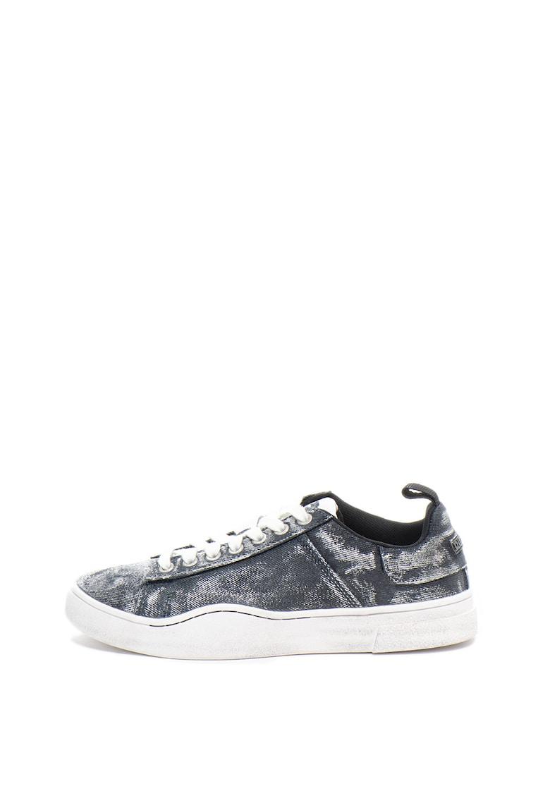 Pantofi sport din material textil - cu aspect metalizat Clever