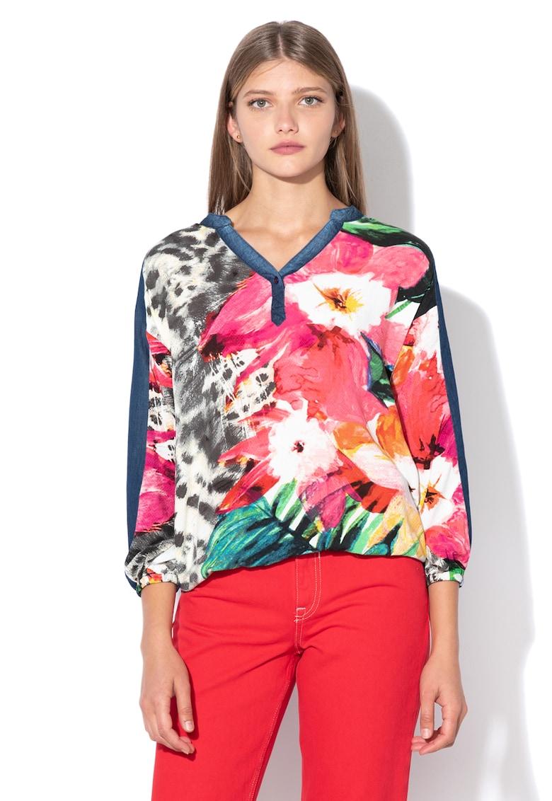 DESIGUAL Bluza tip tunica – cu insertii din chambray Marlen