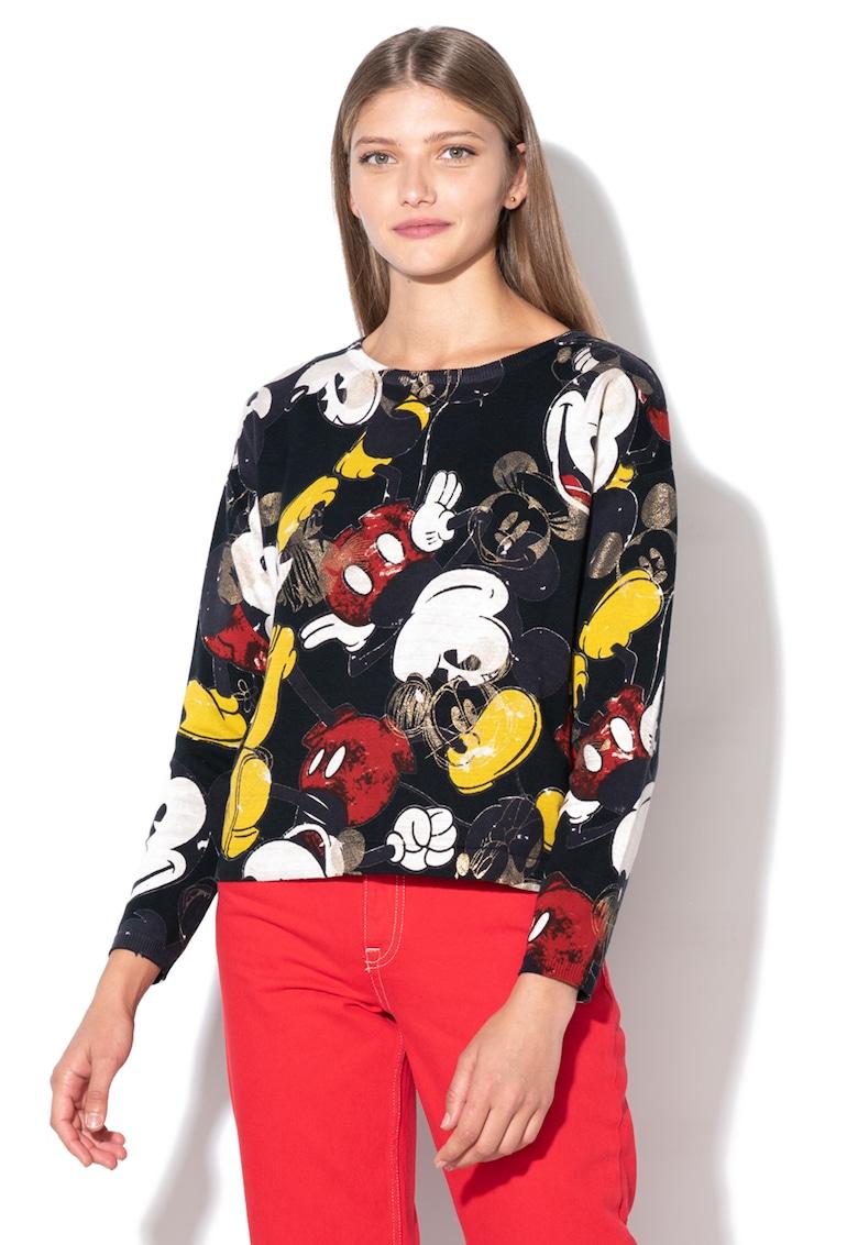 DESIGUAL Pulover cu imprimeu Mickey Mouse Flynn