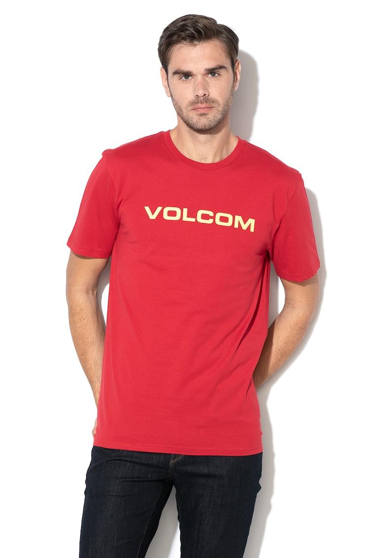Volcom Tricou din bumbac organic cu imprimeu logo Crisp Euro