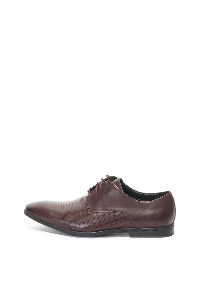 Clarks Pantofi derby de piele Bampton Cap