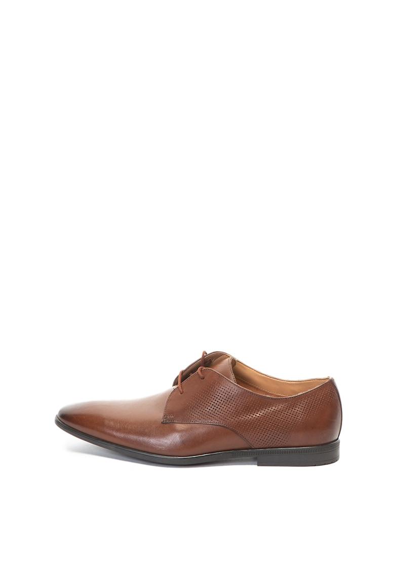 Pantofi derby de piele Bampton Walk de la Clarks