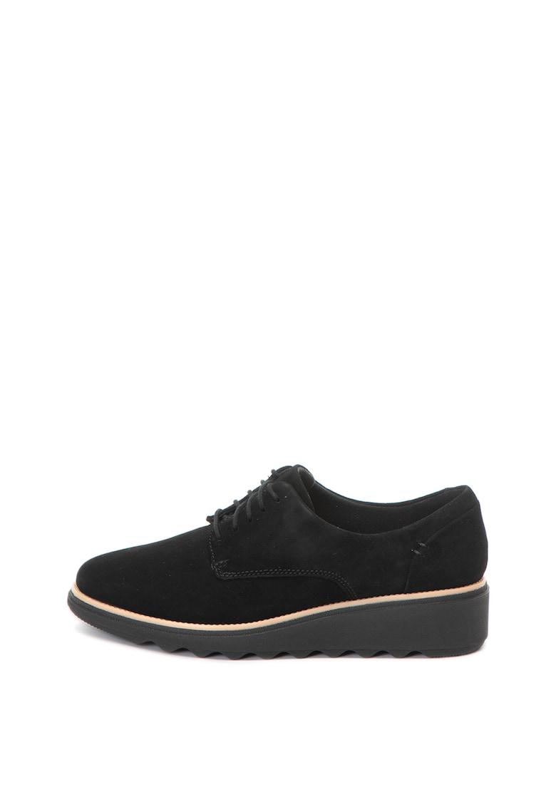 Pantofi derby de piele nabuc Sharon Noel