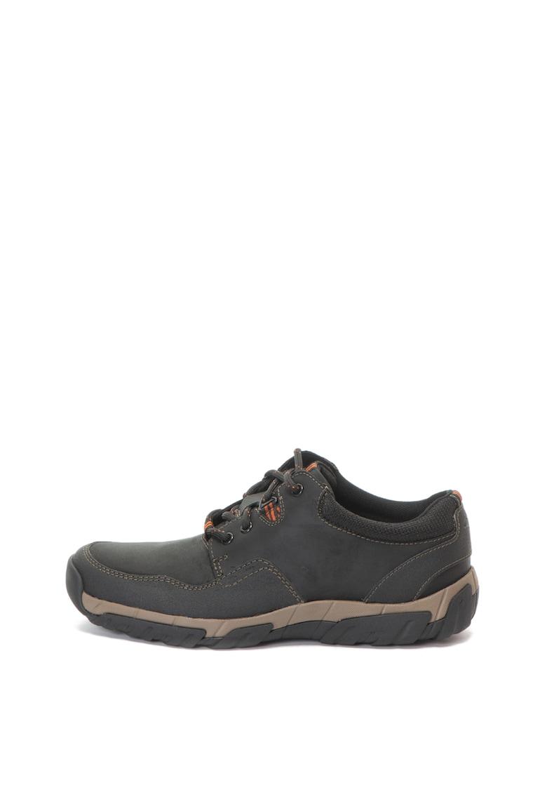 Pantofi impermeabili de piele si material textil WalbeckEdge II de la Clarks