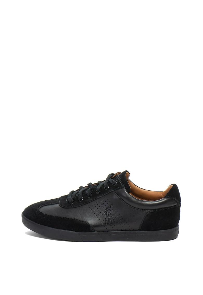 ... Cadoc nyersbőr és bőr sneakers cipő dombornyomott logóval férfi. ×Close 29a883fd72