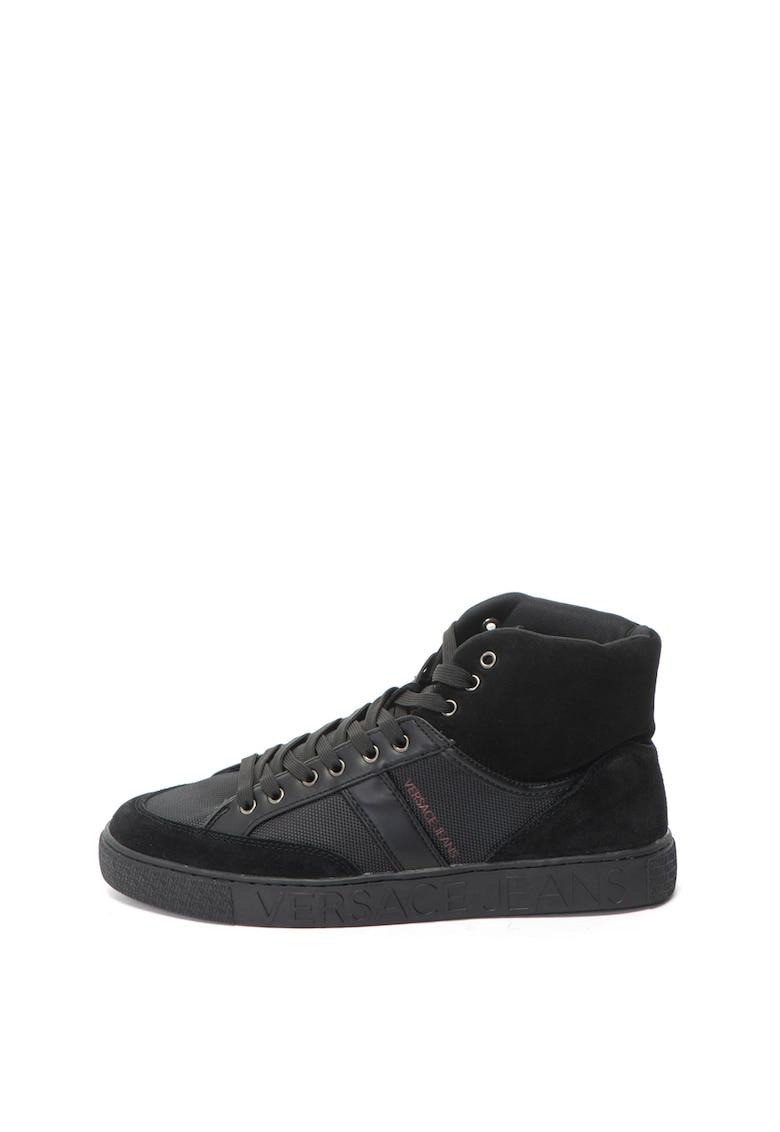 Versace Jeans Pantofi sport mid-high cu insertii de piele intoarsa