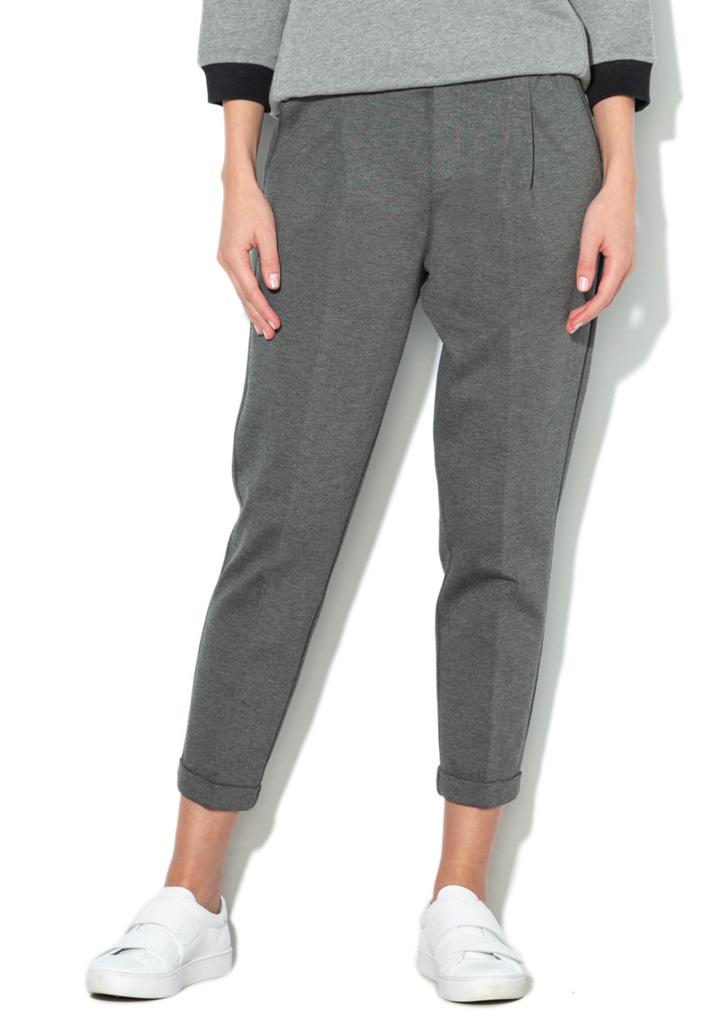 Pantaloni cu talie inalta elastica