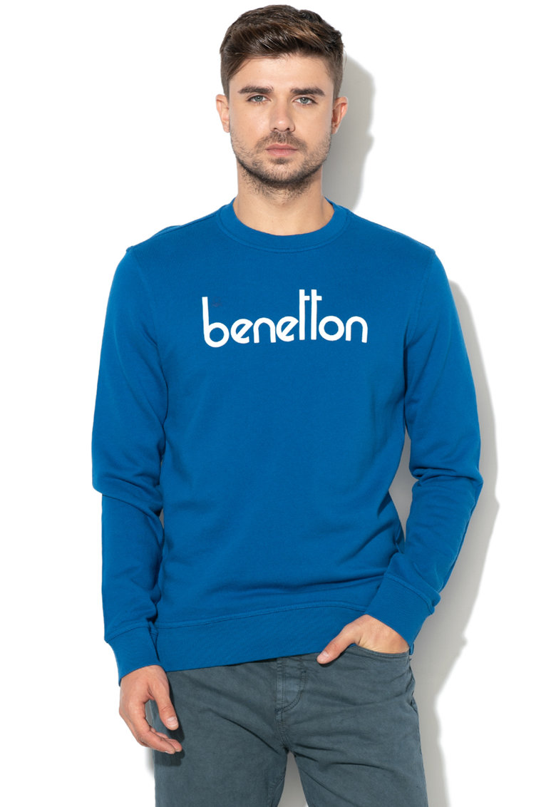 United Colors of Benetton Bluza sport cu imprimeu logo