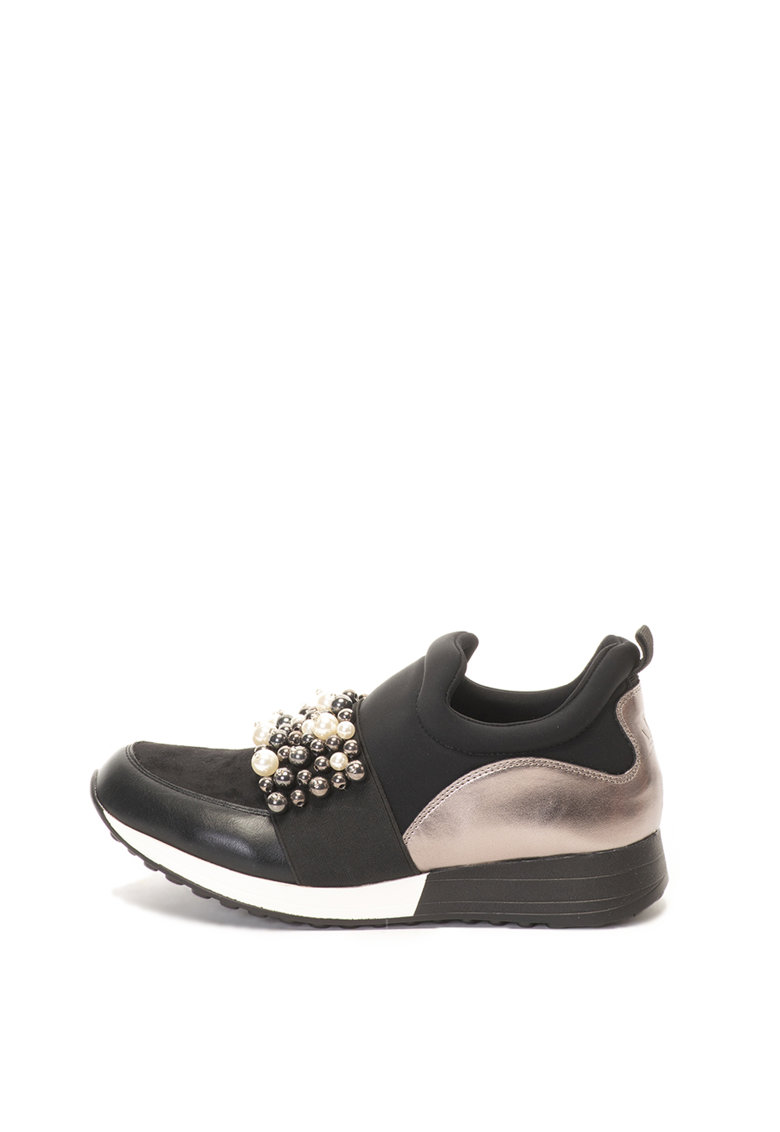 Francesco Milano Pantofi sport slip-on cu margele