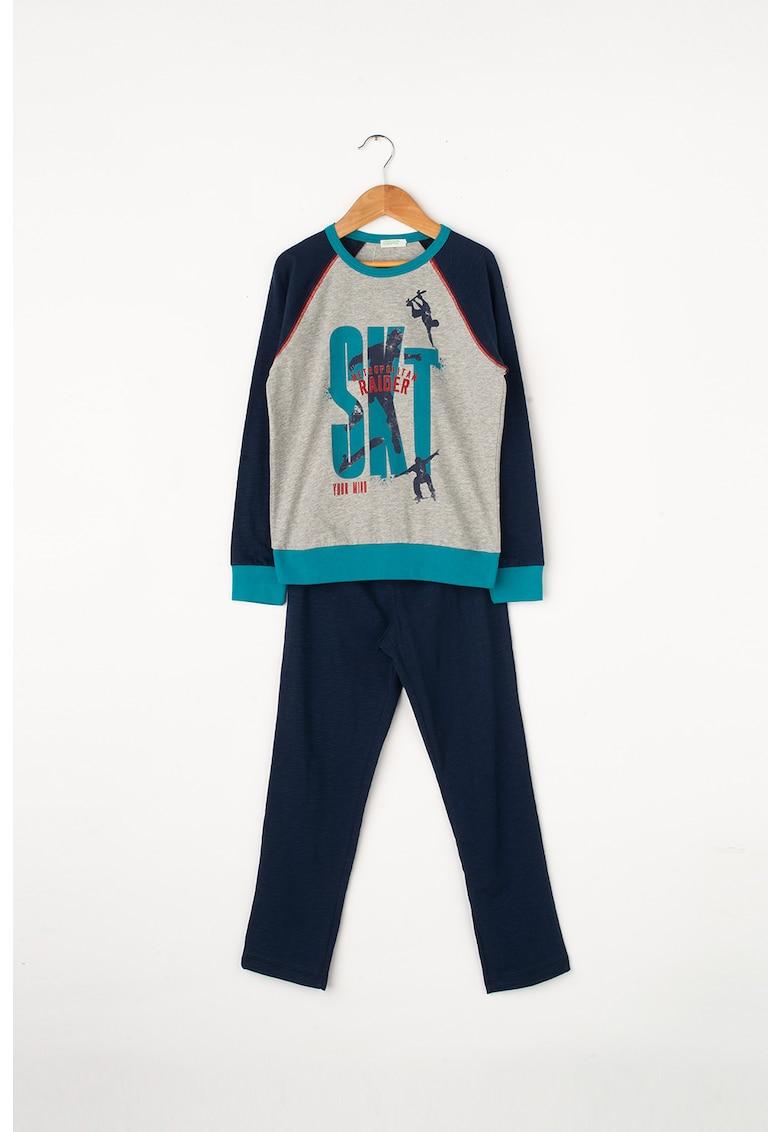 Pijama lunga cu imprimeu thumbnail