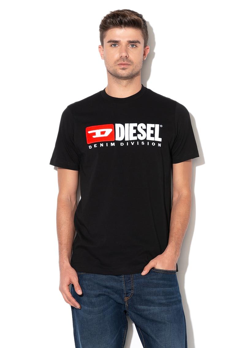 Tricou cu broderie logo Just Division imagine