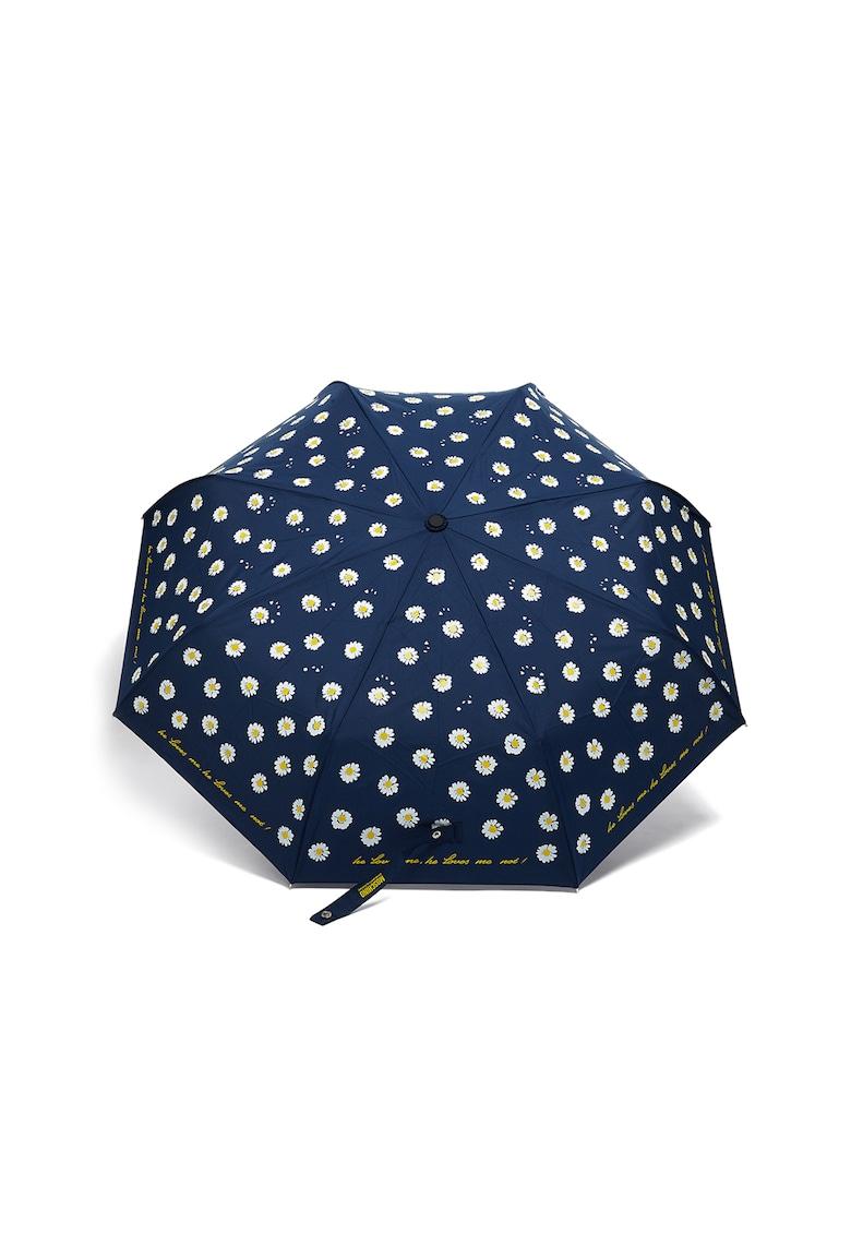 Umbrela cu imprimeu text si floral