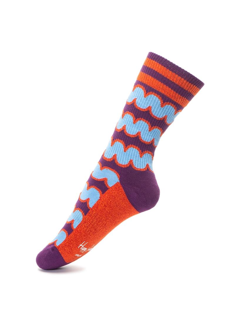 Sosete unisex lungi cu diverse modele de la Happy Socks